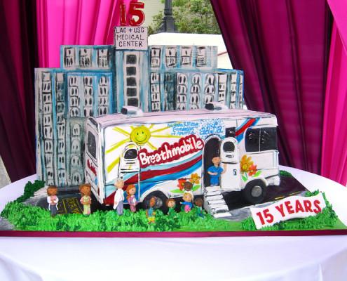 Cake to celebrate 15th Anniversary of Breathmobile Program