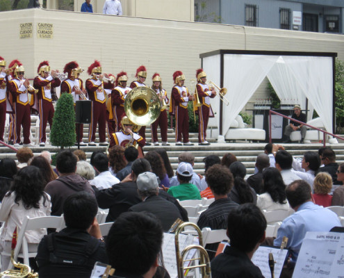 USC Band at 15th Anniversary of Breathmobile Program